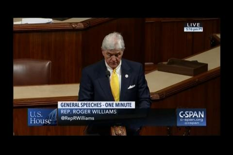 Rep. Williams Recognizes Austin Habitat for Humanity on House Floor