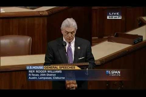 Rep. Roger Williams Discusses the Chris Kyle Medal of Honor Act on the House Floor