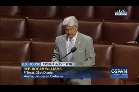 Rep. Williams: No U.S. Aircraft Sales to Iran