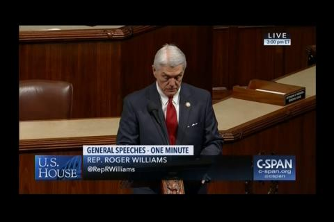 Rep. Williams Honors Dan Jenkins on House Floor