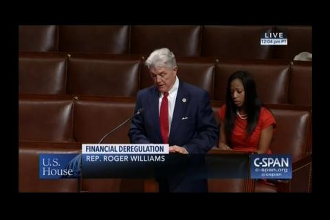 Rep. Williams Speaks in Support of S. 2155 on House Floor