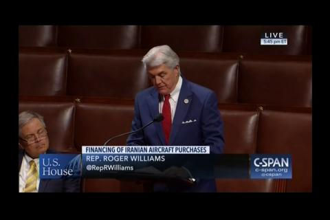 Rep. Williams Debates Iran Bill on House Floor
