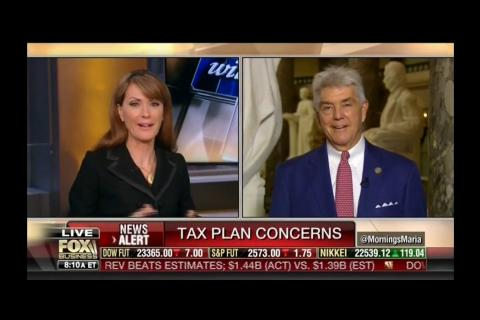 Rep. Williams Talks Tax Reform in Fox Business News