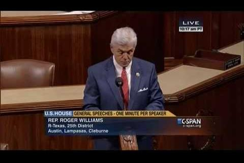 Roger Williams Honors Ft. Hood on U.S. House Floor