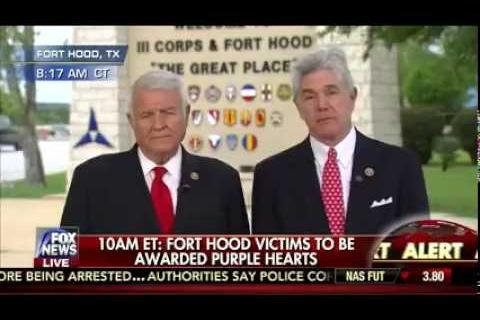 Congressmen Williams and Carter Discuss Ft. Hood Purple Heart Ceremony on Fox News