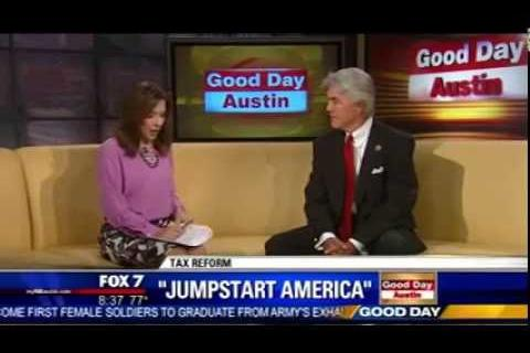 Rep. Williams talks about his tax reform plan, Jumpstart America, with Fox 7 Austin