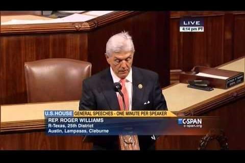 Rep. Williams Honors Law Enforcement Officers on House Floor