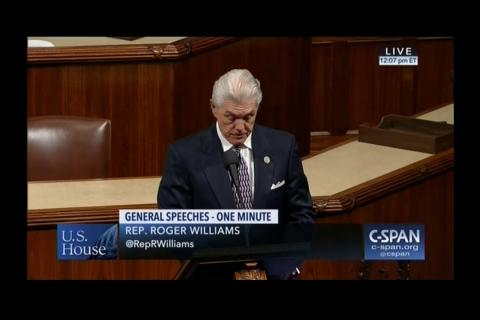 Rep. Williams Recognizes National Prostate Cancer Awareness Month