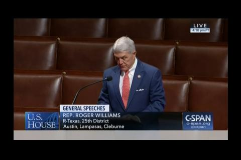 Rep. Williams Speaks on the House Floor in Support of Rep. Any Biggs' National Debt Resolution