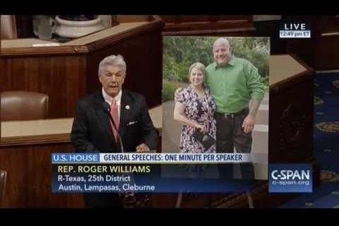 Rep. Williams Honors Fallen Officer Ahrens on House Floor