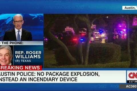 Rep. Williams Joins CNN's Anderson Cooper 360 to Discuss Recent Bombings in Austin