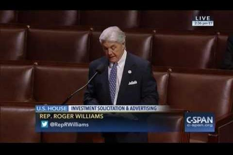 Rep Williams Supports 'Angel Investors Bill'