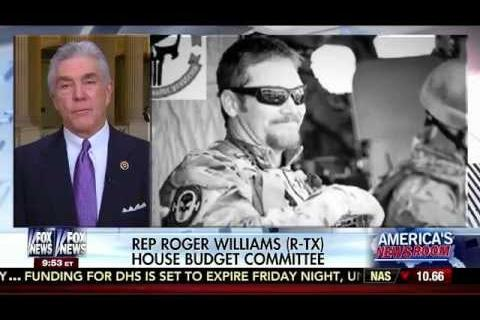Roger Williams Joins Fox News to Discuss His Bill, the Chris Kyle Medal of Honor Act